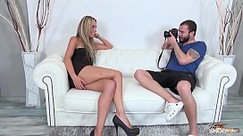 Tall blonde cheated on fake casting and fucked by agent xxx video
