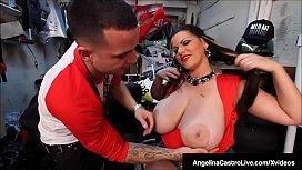 Cuban BBW Angelina Castro Blows &amp_ Bangs A Mechanic'_s Cock!