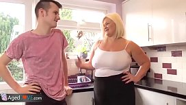 Agedlove granny chubby Lacey bang with Sam-