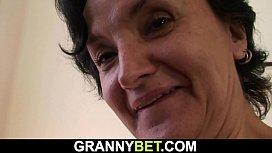 Skinny 60 years old granny