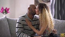 BLACK4K. Interracial sex of blonde coquette and lucky black gentleman