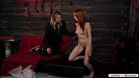 Alien takes over redhead and lick blonde