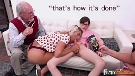 FILTHY FAMILY - Everyone Joins This Twisted Orgy Including Grandpa