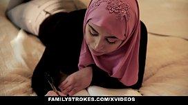 FamilyStrokes - Pakistani Wife Rides Cock In Hijab nia jax nude