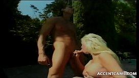 Guy Rams Busty Blonde Gi iend By Pool