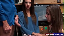 Two cute teens Charity Crawford and Zoey Laine are caught and set straight