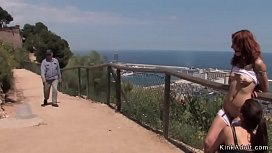 Spanish slave fucked at ocean view