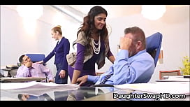 Swapping Teen Daughters For Fucking At Work Day  - FamilyStroking.com
