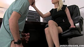 mistress sol  Spitting on and Slapping an Employee`s Stupid Face