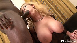 Sexy blonde is ready for two hard cocks