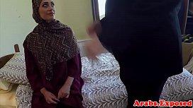 Hairy arabic beauty gets spoon fucked