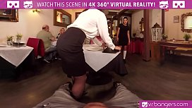VRBangers.com Public Sex with Two Babes in Caffe