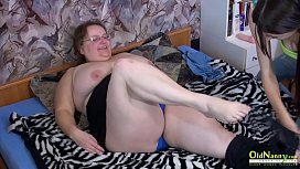 OldNannY Busty Older BBW Lady Trying Sex Toys