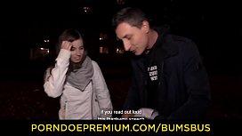 BUMS BUS - Cute busty German newbie Vanda Angel picked up and fucked hard in sex van