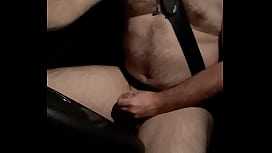 Naked Male Masturbating while Driving