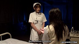Naive little intern sucking off a crazy mental patient
