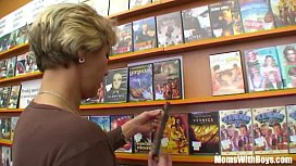 Grandma Miluska Fucking A Young Video Store Clerk