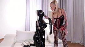 Latex Slave lesbian punishment P1 - myfuckingwebcam.com