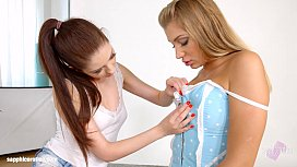 Rebecca Volpetti and Vyvan Hill in Photo session lesbians by SapphiX