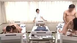 japanese nurses taking care of patients