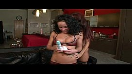 Sexy teen slut seduced by her lesbian milf friend