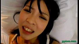 Asian Girl In Lingerie Getting Her Pussy Fucked Cum To Belly On The Bed In The H
