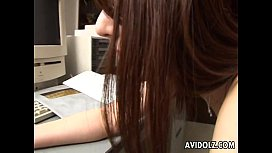 Tender Japanese teen fucked in the office