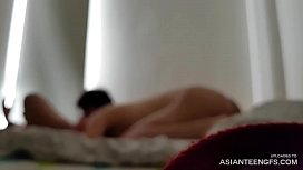 Blurred sex tape with a busty Asian hooker