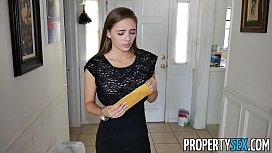 Prope ex Hot petite real estate agent makes hardcore sex video with client