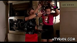Stunning babe gets tied up and gagged by wicked headmistress