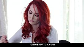 GingerPatch - Redhead Step Daughter and Stepmom Fuck Each Other