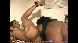 Huge Ebony slut gets fucked hard and gets big facial load