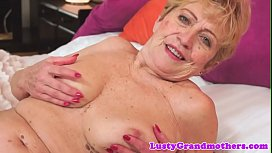 Hairy grandmother pussyfucked with passion