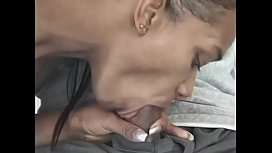 Sweet girl Sextasy gives a blow job to hot guy