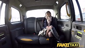 Fake Taxi British babe Sahara Knite gives great deepthroat on backseat