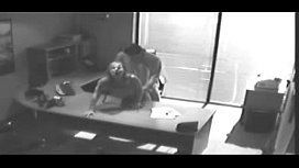 Security Camera Films Sex At Office On Desk
