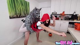 Kharlie Stone pussy fuck upside down by big bad Wolfie