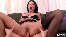 LA COCHONNE - Romanian Babe Shalina Devine Enjoys Hard Anal With French Stud