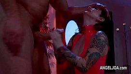 Extreme fetish tatooed girls penetrating huge cock