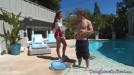 Horny Young College Chick Fucks The Pool Guy