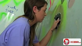 Jenna Leigh Gets A Gift To Blow On From A Glory Hole