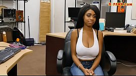 Busty ebony drilled by pervert pawn man