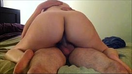 Wife Rides Her Husband to Orgasm Creams his Dick
