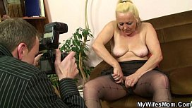 Mature babe caught by her in-law