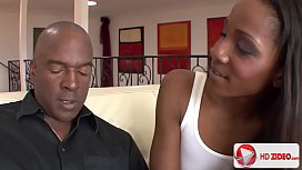 Hottie Coffee Brown Sucks A Big Black Cock And Gets Fucked