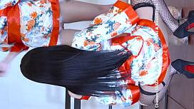 公众号【是小喵啦】韩国美女情趣和服网袜高跟性感热舞