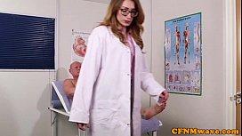 Femdom doctor sucking patients bigcock
