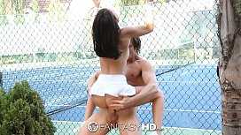 HD Fanta Little Dillion Harper gets fucked on the tennis court