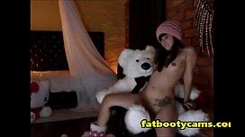 Crazy Girl Humps Teddy Bear - fatbootycams.com