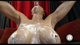 Deep Throat Whipped Cream Gagging Blowjob